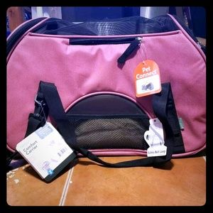 Bergen Pink Comfort Carrier For Pets Large